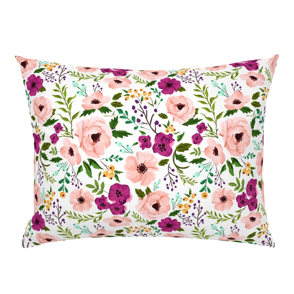 Campine Pillow Sham featuring Josie Meadow Floral by sweeterthanhoney