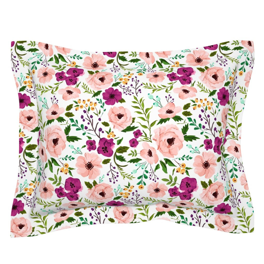 Sebright Pillow Sham featuring Josie Meadow Floral by sweeterthanhoney