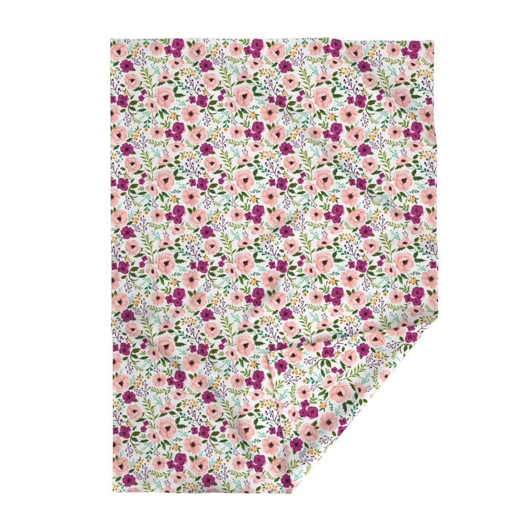 Lakenvelder Throw Blanket featuring Josie Meadow Floral by sweeterthanhoney