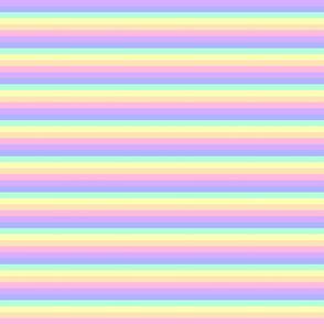 Small Pastel Rainbow Stripe