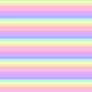 Small Pastel Rainbow with Seam Allowance