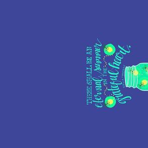 Linen Tea Towel | Firefly Mason Jar Eternal Summer
