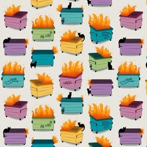 This is My Life- Rainbow Dumpster Fires small scale © Jennifer Garrett