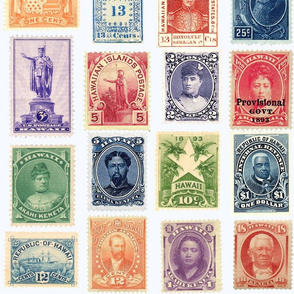 extra-large Hawaiian postage stamps