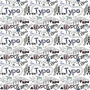 """Typo"" - Graphic Typography in Color"