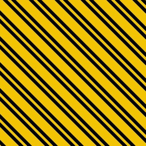 Diagonal Double Stripes in Yellow and Black
