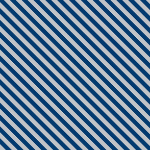 Diagonal Stripes in Blue and Grey