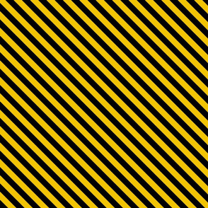 Diagonal Stripes in Yellow and Black