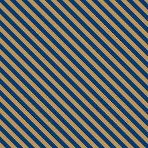 Diagonal Stripes in Blue and Bronze