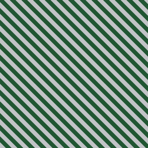 Diagonal Stripes in Green and Grey