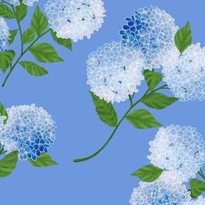 Smaller Watercolor Hydrangea Garden Smaller Print