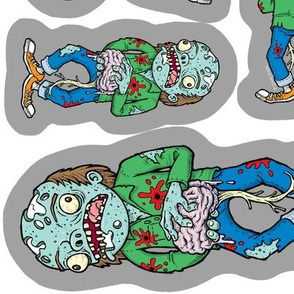 "Zombie DIY Catnip Cat Toys! Stich and Stuff!  **PRINTS ON 58"" WIDTH FABRICS ONLY*"