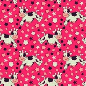 Pink Cows and Stars