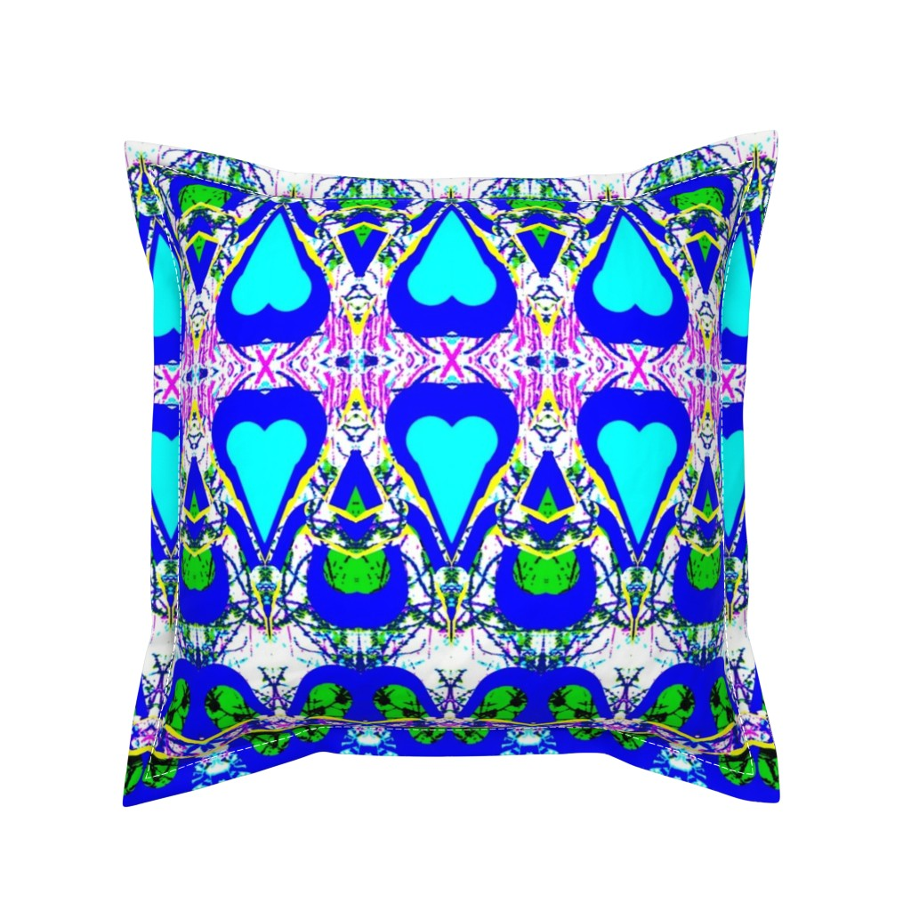 Serama Throw Pillow featuring Growing and Blooming Hearts by robin_rice