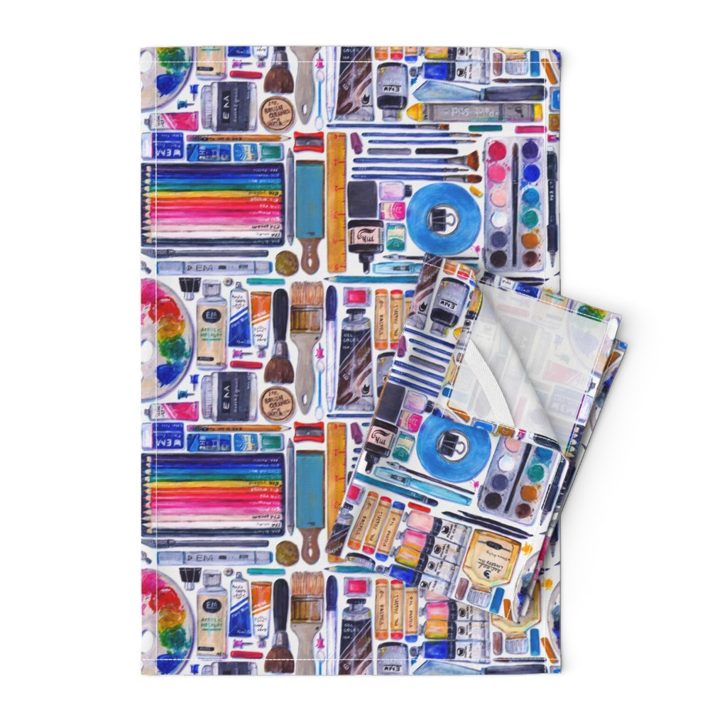 Orpington Tea Towels featuring Artsenal by miranema