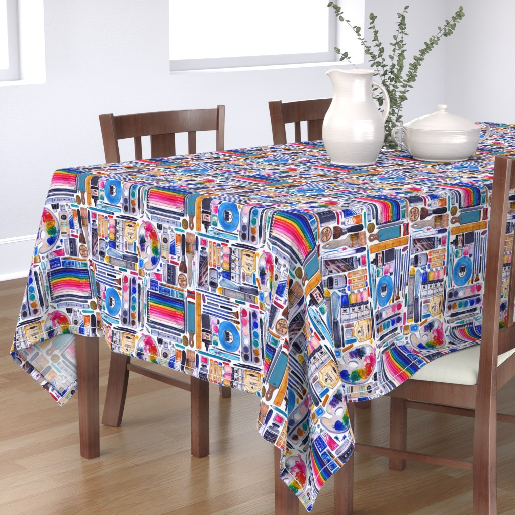 Bantam Rectangular Tablecloth featuring Artsenal by miranema