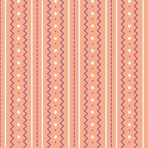 Craft Stitch/Stripes - peach