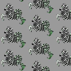 Green Zebra Sea Horse