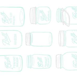 Tea Towel | Aqua Ball Jars | Canning Jars