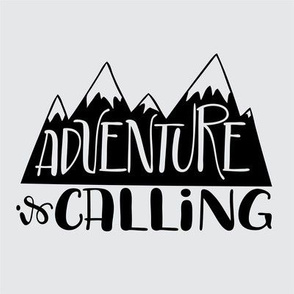 "8"" Quilt block - Adventure is calling mountains"