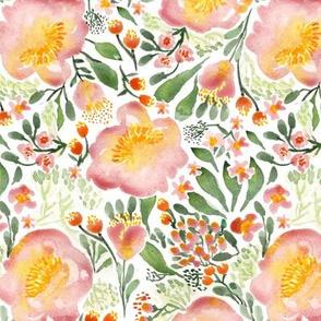 Elegant tropical watercolor florals