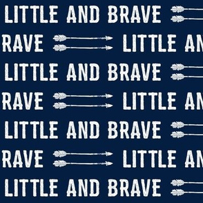 Little and Brave - white on navy