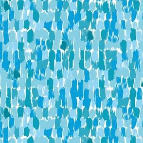 Paint Strokes - Vibrant Blues