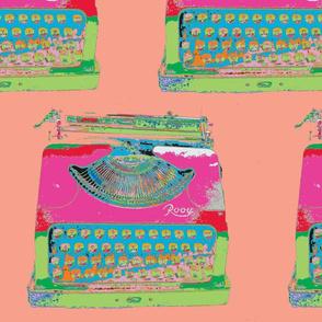Jack Kerouac's Typewriter, peach background