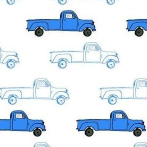 """4"""" Vintage Truck - Blue"""