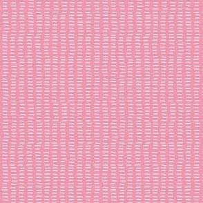Carthusian Pink Stitches on Light Pink