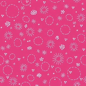 Floral Embroidery on Pink