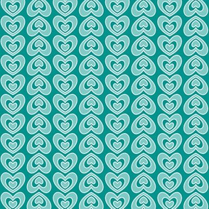 Nested Hearts Teal (Spice)