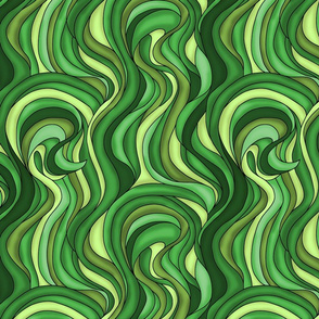 Waves of green grass