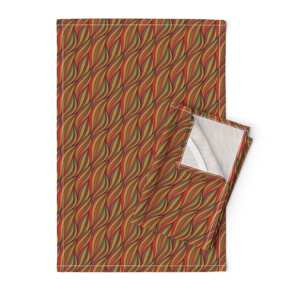 Orpington Tea Towels featuring Phoenix Weave - Autumn 7 by samalah