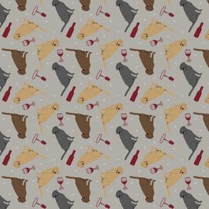 Tiny Labrador Retrievers - wine