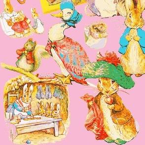 Beatrix Potter Pastiche in Potter Pink