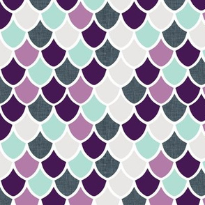 purple + aqua mermaid scales // small