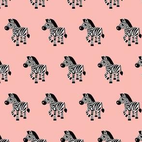 Sweet pastels african zebra safari cool trendy animals design for kids soft pink girls