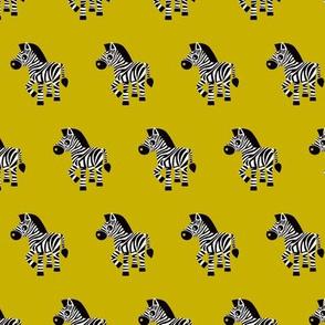 Sweet pastels african zebra safari cool trendy animals design for kids soft gender neutral ochre yellow