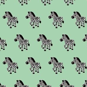 Sweet pastels african zebra safari cool trendy animals design for kids soft mint gender neutral