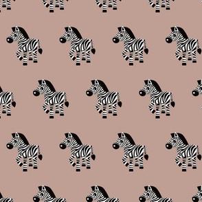 Sweet pastels african zebra safari cool trendy animals design for kids gender neutral beige