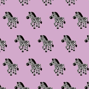 Sweet pastels african zebra safari cool trendy animals design for kids violet lilac for girls