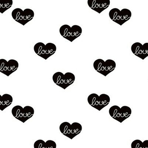 Monochrome love hearts sweet baby valentine or lovers design