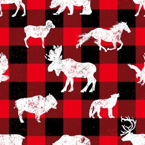 Cabin Buffalo Plaid Red Black