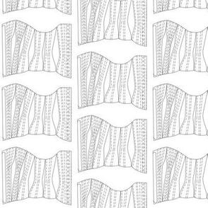 Antique corset pattern