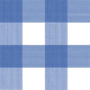 "Cobalt 3"" Buffalo Plaid"