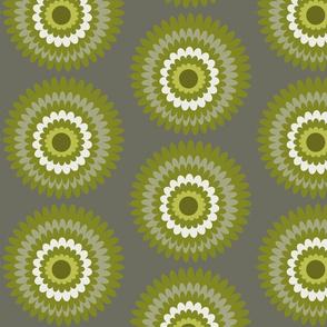 olive grey dahlia