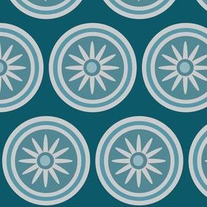 teal blue daisy