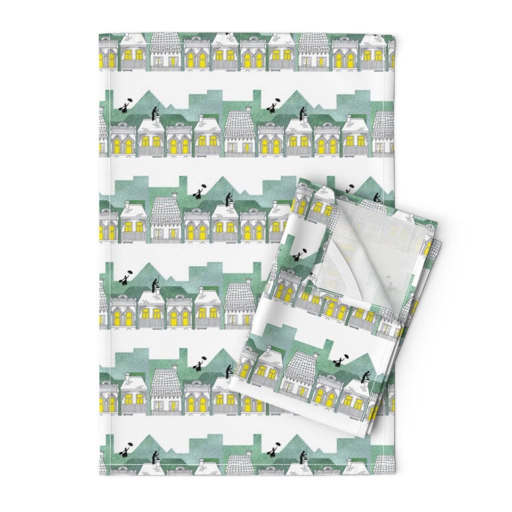 Orpington Tea Towels featuring Mary Poppins (border print) by delsie