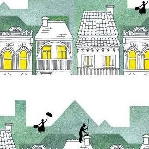 Mary Poppins (border print)